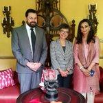 Margaret Adamson & Asst Sec. Foreign Affairs & Trade Canberra, James Hall call on Senator @sherryrehman in Karachi https://t.co/11o1j58UYA