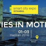 """Akıllı Şehir Uygulamalarına dair en son gelişmeler""""Smart City Expo İstanbul""""da..1-3 Haziran Haliç Kongrede olacağız https://t.co/EnHMC80nMJ"""