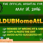 OFFICIAL HASHTAG TODAY! MAY 31, 2016 - TUESDAY OHT: #ALDUBHomeAtLast ALWAYS SPREAD LOVE & RADIATE GOOD VIBES! https://t.co/DI5Clupz9r