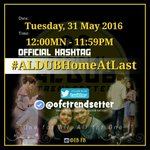 Home is the starting place of love, hope and dreams. OHT. Pls spread Dabarkads. #ALDUBHomeAtLast https://t.co/OZTakTfDwP