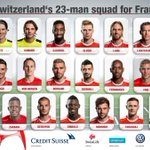 +++ Here is our squad for France! +++ #AllezLaSuisse #EURO2016 https://t.co/ORHSdu9Umf