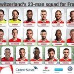 ???????? OFFICIEL ! La liste des 23 suisses retenus pour lEuro 2016 ! https://t.co/CAUFBBaNyD