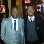 @mphomakola & @GeorgeLebese In the holding room for #PSLAwards nominees @Orlando_Pirates @KaizerChiefs https://t.co/CqTEPH0A3v