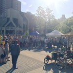 What a turnout at this mornings #BiketoWorkDay celebration at City Hall! #HamOnt https://t.co/j3xD011pbX