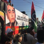 100s of #PPP Lahore workers joined @BBhuttoZardari in Mirpur on vans,cars & truck.DJ played BILAWAL song all along https://t.co/POsfuIIdxm