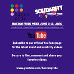 Subscribe to the #bostonpride #YouTube page for #event, #celebrity & #Festival performer videos. #lgbtq #boston https://t.co/TvEMk8Ru12