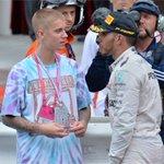 #MonacoGP @justinbieber congratulated race winner @LewisHamilton https://t.co/GQHge17Bon