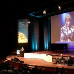 Commissioner @EBienkowskaEU gives an opening speech at the European Space Solutions Conference in the Hague #euspace https://t.co/eAKEKqjVTh