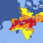 """""""Erst ab ca. 22h gibt es Entwarnung, dann sollte das #Unwetter durchgezogen sein"""", so Alexander Hübener/Meteorologe. https://t.co/nKHOmGzbEc"""