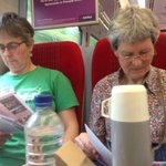 #Exeter Friends catching up on their reading while travelling home after #ym2016 @ymevent_britain @BritishQuakers https://t.co/zGvhxWxwY1