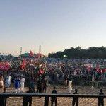Massive amount of people gathered at the Jalsa gah!✌️❤️ #JiyeBhutto #KarwanEBilawal #Mirpur @BBhuttoZardari https://t.co/ReHqsta22o