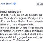 """#AfD-Vize @Beatrix_vStorch nennt die Politik von #Merkel """"niederträchtig"""" • #Gauland #Boateng https://t.co/ntn9Y9kCEd"""