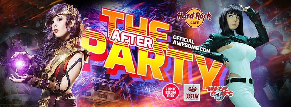 Saturday: @AwesomeCon #DC Afterparty w/ #cosplay stars @Ridd1e & @MnikaLee https://t.co/jTK4zDH3Ce https://t.co/8KlMWO0BKD