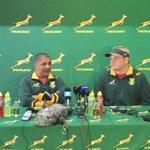 Springbok coach Allister Coetzee at the unveiling of Adriaan Strauss as 57th Springbok captain in Stellenbosch. https://t.co/I5JvVZ6R7X