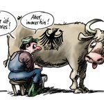 Lahme Kuh - so sieht Klaus #Stuttmann den #Milchgipfel. Mehr Karikaturen unter: https://t.co/DFxf9Jk8nQ https://t.co/1shFLTeh6J