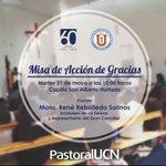 Conmemoración del 60º Aniversario de la Universidad Católica del Norte @acuturrufo @UCNorte @ArzobispadoLS https://t.co/JcPk3Iw9ey