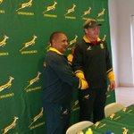 @Springboks coach Allister Coetzee & new captain Adriaan Strauss @CapeTimesSA @TheCapeArgus @IOLsport #BokCaptain https://t.co/eet0NcwWvV