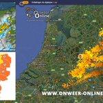 Code oranje voor midden/oost Nederland : #onweer #hagel en veel neerslag. #codeoranje Inmiddels 10.000+ ontladingen! https://t.co/QSptOMFvMz