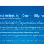 Son Dakika: Online ödeme aracı PayPal, Türkiyeden çekilme kararı aldı. https://t.co/CStkdENotn