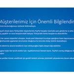 PayPal Türkiye'deki faaliyetlerini durdurdu [SonDakika] https://t.co/BaqSNlFqaw https://t.co/YHsV6DBAGQ