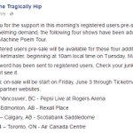 The Tragically Hip just added a second show in #yeg. July 30th at Rexall.  - @iamtaylorsmith https://t.co/1nPy4Q3y2n