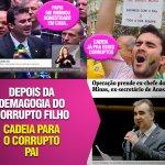 Cai + uma a máscara: @CaioNarcio votou pela honestidade do pai no golpe. Hoje o pai foi preso por desvio de dinheiro https://t.co/nT9vQCC64H