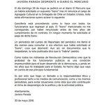 Todo mi apoyo a @javiparada no es posible que El Mercurio publique  algo que les fue desmentido. https://t.co/BoOpB7mlRn