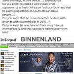 Great news! A Steve Hofmeyr gig in the Netherlands was cancelled after his racism was exposed. https://t.co/BmU3bfmKqK