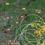 Onweer nu flink hoorbaar te #gouda (grijze cirkel is geluidsgolf)! Volg de onweersbuien op https://t.co/KedxGLBwhE https://t.co/lmemNCqJeR