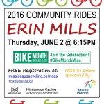 ERIN MILLS COMMUNITY RIDE: Thurs June 2 @ 6:15pm. Glen Erin Trail! FREE Regn: https://t.co/rK85bRDCcR #BikeMonthMiss https://t.co/oxOO8RM5uB