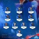 Et voici la compo des Bleus pour ce soir! Hugo Lloris, capitaine #FRACAM #FiersdetreBleus 👊 Coup denvoi 21h! https://t.co/6JNUbUoUt0