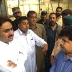 Chairman, Councillors of Lyari, Administrator South and KW&SB Cheif Engr.South were also present during visit. https://t.co/qtIvrcDuir