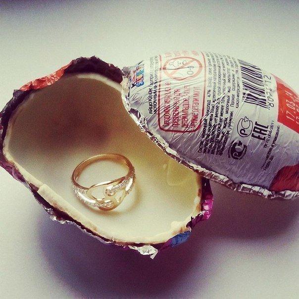 Подарок киндер сюрприз цепочка золотая