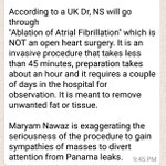 My prayers for Nawaz Sharif health & speedy recovery, though a bit surprised to see the contradictory note below. ???? https://t.co/6YzgMGvBrU
