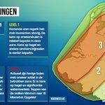 UPdate naar level 3 waarschuwing voor een brede zone binnen de Benelux, voornamelijk vanwege kans op #wateroverlast. https://t.co/ojZELeXjHf