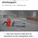 Vorige week nog vanwege de heftige brand van de #vrijemarkt en nu vanwege hevige #regenval.#Cuijk in het nieuws #nos https://t.co/n7HzVYyxQP