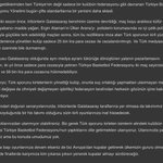 Resmi: Türk sporunun üzerinden kirli ellerinizi çekin! [gsk] https://t.co/pmwGV997nV