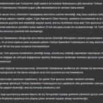 """SON DAKİKA! Galatasaraydan açıklama: """"Türk Sporunun Üzerinden Kirli Ellerinizi Çekin"""" https://t.co/oOtw6TsSRt"""