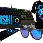 """Sorteo Teclado """"Hanshi Spectrum"""" + Alfombrilla + Gafas Sangurasu + Camiseta. Follow a mi y a @newskill_ES Y RT. https://t.co/Mb2IPquLo6"""