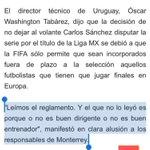Duro y directo a la cabeza el fregazo de Óscar Washington Tabárez a Luis Miguel Salvador y a Mohamed... https://t.co/po1puShv48