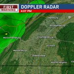 Some heavy showers with rumbles of thunder moving into Franklin County. Slow moving with weak cold front. #CBS21WX https://t.co/alMPj64gKo