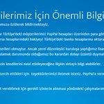 Paypal artık Türkiyede hizmet vermeyecekmiş. #Paypal https://t.co/3EW9PHrgWm https://t.co/oCUlHIiIjr
