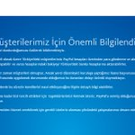 Son dakika: PayPal Türkiyedeki faaliyetlerini geçici olarak sonlandırdı. https://t.co/ecjhfZtrKf https://t.co/jLzaQK3jaU