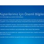 Şaka gibi ama maalesef gerçek. Paypal Türkiyeden çekiliyor. #paypal https://t.co/QI7gIHFxfv