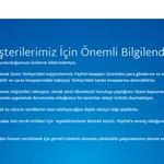 Paypal Türkiyedeki faaliyetlerini durdurduklarını açıkladı. Açıklama burada: https://t.co/ZxMrpNAZhu https://t.co/uN6HHH47id