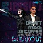 SORE INI!!! @JessieJ bakal jadi co-host @boywilliam full 1 episode di @BreakoutNET pkl 15.00 WIB. https://t.co/AKg8k0OaLQ