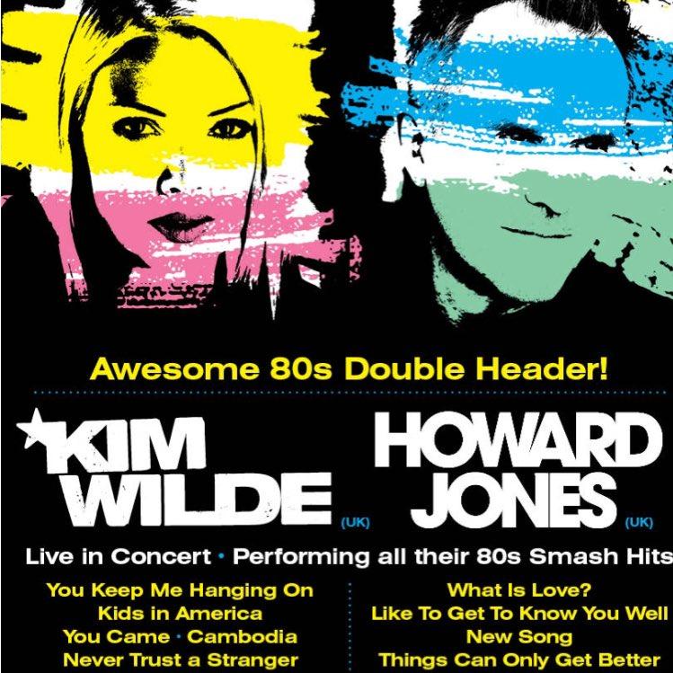 80s music fans... Nov 12 at The Gov #Adelaide @kimwilde @howardjones https://t.co/3GEL2RFjWl
