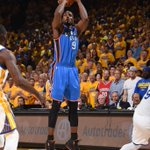 At the end of the 1st quarter Thunder lead Warriors, 24-19. OKC: made as many 3s (3) as they did all of Game 6. https://t.co/otBX5y1zWQ