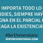 """""""No importa todo lo que estudies, siempre hay una consigna en el parcial que te..."""". #SerUniversitario vía @MatiRoza https://t.co/VXkjhJ0Gls"""