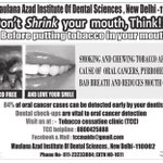 Dont shrink your mouth,Think!! Before putting tobacco in your mouth https://t.co/eCgKqiQTsO